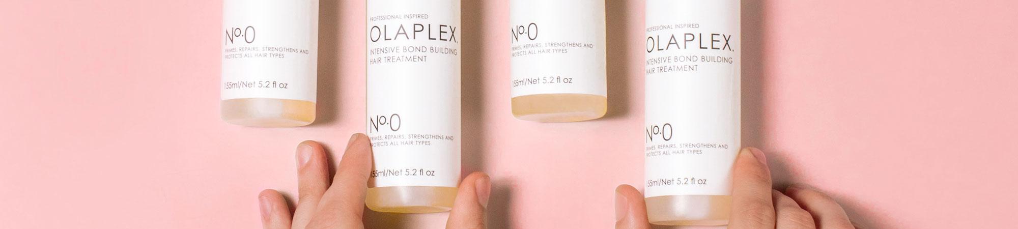 Olaplex No.0 med rosa bakgrund